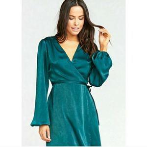 Show Me Your Mumu Nola Mini Dress Green Emerald